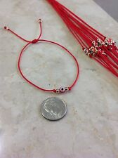 Evil Eye Red String Kabbalah Bracelet Goldtone Bead Good Luck Charm Protection