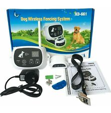 New listing Wireless Electronic Pet Fence System Kd-661 White 1 Collar Receiver Open Box