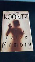 False Memory by Dean Koontz 1999 Hardcover Dustjacket