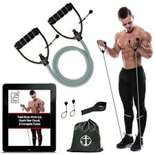 Resistance Bands Cord for Exercise Fitness Pilates Strength Training Home Gym