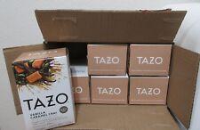 Tazo Vanilla Caramel Chai Black Tea, Pack of 6 Boxes , 20 Count per Box 05/2022