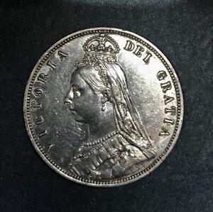 Great Britain 1887 Queen Victoria Half Crown, Better Circ. Grade