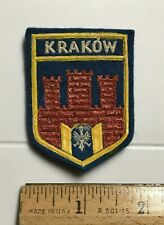 Krakow Poland Coat of Arms Towers Wall Eagle Souvenir Rubber Felt Patch Badge
