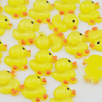 17mm 20pcs Resin Yellow Duck Flatback Button Craft Appliques