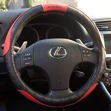 New Design Black & Red Slip-On Steering Wheel Cover PVC Leather Nice Fitting