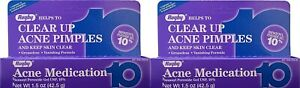 NEW Rugby Acne Gel Benzoyl Peroxide 10% -1.5oz Tube 2 Pack Expiration Date 11/22