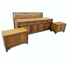 oriental bedroom furniture. Vtg Daniel Jones Asian Inspired KING BEDROOM SET Dresser Nightstands  Headboard Bedroom Furniture Sets eBay
