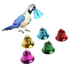 10PCS Multi-Color Pet Bird Bells Wind Chimes For Parrot Toy DIY Stainless Steel