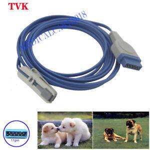 Reusable GE Ohmeda Veterinary Clip SpO2 Sensor, 11pin 3m, Compatible Sensor