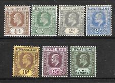 LEEWARD ISLANDS 1907     KEVII  PART SET   MLH