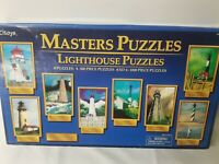 Masters Puzzles Lot of 8 Lighthouse 4 500 Pcs and 4 1000 Pcs PCIToys NEW