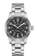 New Hamilton Khaki Field Day Date Auto ST Steel Black Dial Men's Watch H70535131