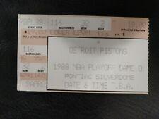 Michael Jordan playoff ticket 1987-88 Chicago Bulls at Pistons
