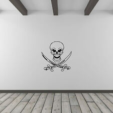 Skull And Crossed Swords Vinyl Wall Art Decal for Home Decor / Interior Desig...