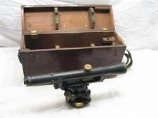 Early Gurley Brass Engineer's Builder's Transit Level Survey Tool w/Wooden Box
