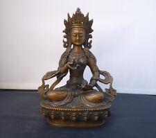 Tibetan Buddhism bronze Seat Vajrasattva Vajradhara Goddess Buddha Statue