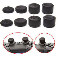 8X Black Silicone Thumb Stick Grip Cover Caps For PS4 Game Analog Controller O