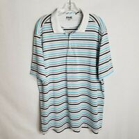 PING Mens Striped Short Sleeve Polyester Golf Polo Shirt Size XL P213