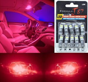 LED 3030 Light Red 168 Ten Bulbs Interior Dome Replacement Lamp Festoon Upgrade