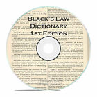 BLACK'S LAW DICTIONARY, 1st EDITION, 1891, CD LAW SCHOOL HISTORIAN RESEARCH BOOK