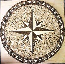 """Floor 32"""" Marble Travertine Tile Medallion Design Stone 32"""" #11"""