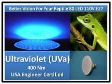 DocBrown Snake Dragon Tarantula Reptile 80LED UV UVa Light Bulb 110V E27 USACert