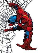 SPIDERMAN Crawling On Spider Web Classic Superhero - Window Cling DecalSticker