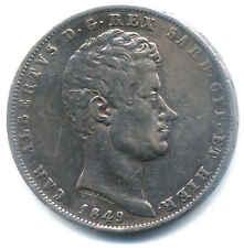 CARLO ALBERTO 5 LIRE ARGENTO 1849 GENOVA REGNO SARDEGNA MONETA ARGENTO