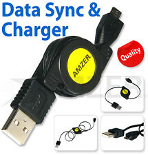 Amzer Micro USB Retractable Data Sync Charging Cable Quality Must Have Useful UK