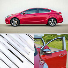 14pcs Stainless Steel Door Window Frame Sill Molding Trim For Kia Forte 2017