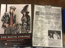 The WHITE STRIPES Japan 2007 flyer mini-poster MINT RARE ICKY THUMP CD LP