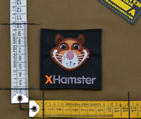 "Ricamata / Embroidered Patch ""X-Hamster"" with VELCRO® brand hook"