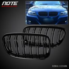 Gloss Black Front Kidney Double Rims Grille For BMW E90 E91 LCI 3 series 08-11