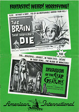 THE BRAIN THAT WOULDN'T DIE / INVASION OF THE STAR CREATURES • 1962, AIP • Uncut