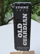 Stone BEER Tap Handle ~ Stone Brewing Old Guardian BWine ~ Escondido, CALIFORNIA