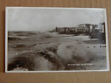 Postcard Rough Sea Worthing Real photo  Unposted