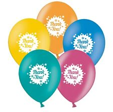 """Thank You - Stars   12""""  Assorted Printed Latex Balloons pack of 5"""