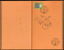 RARE signed Chester Fox sur souvenir échecs chess fischer spassky 1972