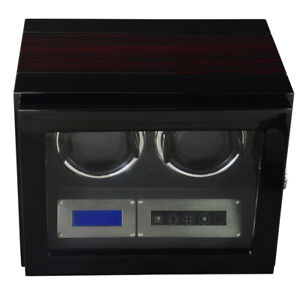 Watch winder - Double watch luxury finishing with LED light and remote control
