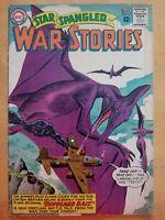 "STAR SPANGLED WAR STORIES #113 DC (1964) Ross Andru cover! ""Dinosaur Bait""!"