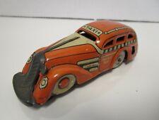 Vintage Marx Toys Tin Tricky Taxi Wind Up Car - Orange - No Key