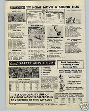 1949 PAPER AD Castle Films Woody Woodpecker 1948 World Series Excel Mickey Mouse