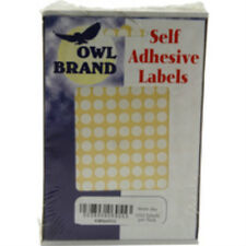 WHITE SELF ADHESIVE LABELS ROUND 8MM 1232 IN PACK ) x20 PACKETS 24,640 LABELS