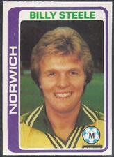 TOPPS-FOOTBALL (PALE BLUE BACK 1979)-#092- NORWICH - BILLY STEELE
