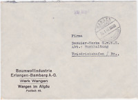 Germany 1946  Wangen to  Friedrichshafen  stamps cover R20643