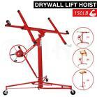 11' Drywall Rolling Lifter Panel Hoist Sheetrock Construction Lockable Tool