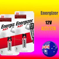 2 x A27 NEW Energizer QueenOf7 Genuine 12V 27A Battery Garage Car Remote Alarm