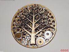 Steampunk Insignia Broche Árbol de la vida de mecanismo de relojería Reloj Piezas COGS Rueda Dentada