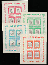 GB Locals - Isle of Soay (115) 1967 EUROPA - SHELLS set of 4 in sheetlets u/m