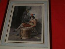 ancienne aquarelle très fine (acteur de théatre ?)